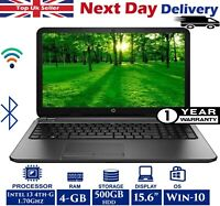 HP 250 G3 15.6-inch Laptop Intel 4th-Gen i3 1.70Ghz 4GB RAM 500GB HDD Windows 10