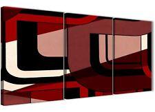 3 pezzi rosso nero Pittura Kitchen Accessori in Tela-ASTRATTO 3410 - 126 cm