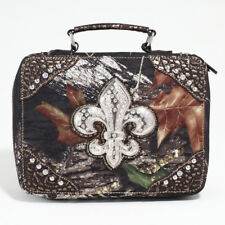 New Womens Handbag Leather Mossy Oak®  Travel Purse Business Bag Rhinestone Star