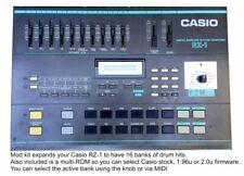 Casio RZ-1 Upgrade 16 vintage soundbanks  2.0u Firmware MIDI Conrol