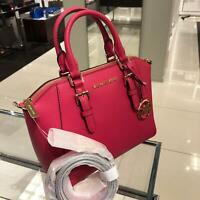 Michael Kors Small Medium Leather Messenger Satchel Crossbody Bag Handbag Pink