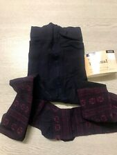 M&S Womens Ladies 100 Denier Wool Blend Thermal Ribbed Thick Soft Tights Size: M