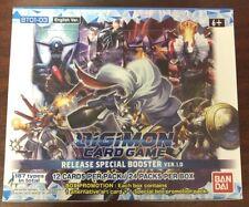 Bandai Digimon versión 1.0 juego de tarjeta TCG Booster Box-Sellado De Fábrica