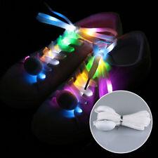 LED Light Up Flashing Shoelaces Lace Adult's Party Shoe Luminous Nylon Shoelace