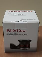 NEW Samyang 12mm F2.0 NCS CS Nano MC APSC Angle Lens for Sony E mount Black