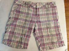 O'Neill Plain Shorts Sz 11 Lavender,Gray/White/Pink