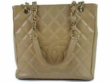 CHANEL Matelasse Caviar Leather Chain Tote Bag 100% Authentic From JAPAN