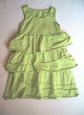Growing Up with Garnet Hill Girls Dress Bright Green Ruffle Tier Sundress Size 4