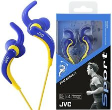JVC HA-ETX30 BLUE Waterproof & Washable Sports Pivot Motion Fit Earphones /NEW