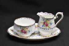 Royal Albert Petit Point Mini Creamer Mini Sugar Bowl & Tray Set