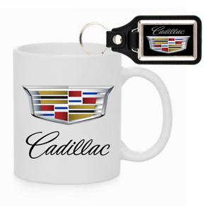 CADILLAC KEYCHAIN AND COFFEE MUG COMBO ESCALADE CTS ATS CTS-V XT4 XTS