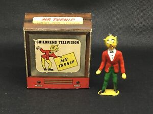 Luntoy 'Mr Turnip' 1950's Children's TV Character, (lime Green 197) Boxed