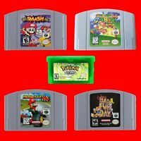 Nintendo 64 Super Mario 64 Mario Kart 64 Super Smash Bros Conker Bad Fur Day US
