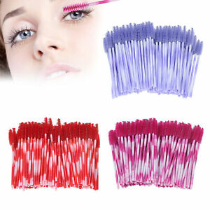 200x Disposable Eyelash Brush For Micro Wands Spoolies Eye Lashes Extension Swab