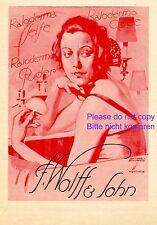 Kaloderma Seife XL Reklame 1924 Ludwig Hohlwein rot Wolff  Dame Spiegel   +