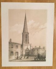 c1840 - St Mary's, York.  Fine Tinted Lithograph.