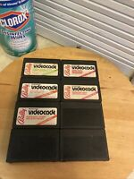 Lot Of 8 Bally Astrocade Videocade Carts Tornado Baseball Maze Math 3 Mystery