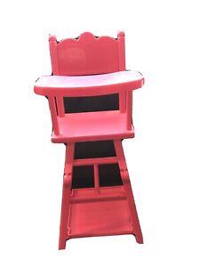Poupee Poupon corolle : Chaise Haute   Pour Bébé Jusqu'à 40 Cm