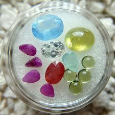 Loose Gemstone Lot Sphene Grandidierite Sapphire Peridot Chalcedony Topaz Ruby