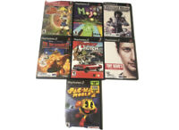 7 PS2 Game Bundle Playstation 2 Games Pacman World 2, Jak & Daxter 5 More Titles