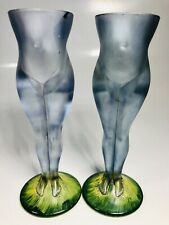 Pair of Hand-Painted Nudes Shaped Shot Glasses