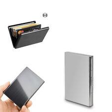 Metal Aluminum Wallet RFID Blocking Crash Proof Credit Card Holder Case Pocket