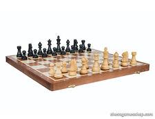 Staunton Standard FOLDING wooden chess SET - BLACK-Weighted,Felted,Tournament