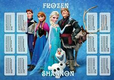 Frozen Times Tables A4 Laminated Personalised