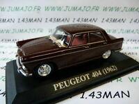 "VA6F voiture 1/43 altaya IXO ""voitures d'antan"" PEUGEOT 404 marron 1962"