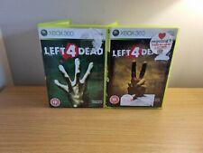 MICROSOFT XBOX 360-Left 4 Dead Game Bundle - 1 & 2-Testé-Free p&p