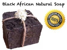 Black African Facial Soap 100% Natural Content homemade anti Acne skin Treatment