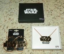 Star Wars Logo - Pendent Necklace & Ear Rings Set - Stainless Steel
