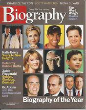 MARTIN SHEEN Zelda Scott Fitzgerald HALLE BERRY Mena Suvari 2001 magazine