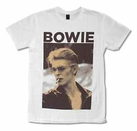 DAVID BOWIE SMOKING PIC IMAGE WHITE T SHIRT NEW OFFICIAL