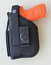 Hip Belt Holster For SIG SAUER SP2022 with Underbarrel Laser mounted on gun