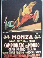 CARTOLINA MONZA GRAN PREMIO DELLE 24 ORE - FUTURISMO  ( m14-2 )
