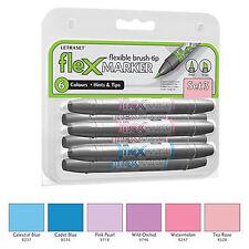 Letraset FlexMarker 6 Pen Set - Set 3 - Flex Markers
