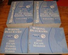 2010 Ford Escape Mariner Hybrid Shop Service Manual Vol 1 & 2 + Wiring Diagrams