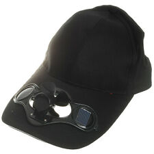 Cotton Sports Solar Powered Fan Hat Cooling Baseball Cap Outdoor Camping