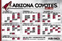 NHL Arizona Coyotes 2019 Hockey Schedule 12x18 or 24x36 or 27x40