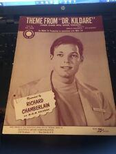 Sheet Music:Theme From Dr Kildare, Richard Chamberlain 1962