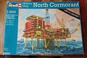 "Revell 08803 1/200 Scale ""NORTH CORMORANT"" Off-Shore Oil Rig Model Kit NEW"
