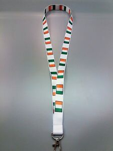 Ireland Lanyard with metal clip - ideal for ID badges - 80cm x 2cm