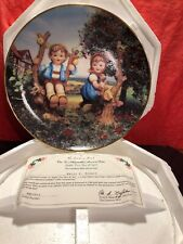 M.J. Hummel Plate - Apple Tree Boy and Girl - Little Companions The Danbury Mint
