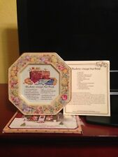 Avon Hospitality Sweets Recipe Plate - Blueberry Orange Nut Bread - 1982