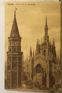 Italy Milan S Goitardo Tower Torre Postcard Old Vintage Card View Standard Post