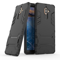 For Nokia 7 Plus - SLIM THIN TOUGH SHOCK PROOF BUILDER PHONE CASE COVER STAND