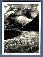 France, Chamonix Mont Blanc, Mer de Glace  Vintage silver print. Haute Savoie