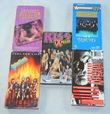 Rock VHS Lot of 5 Tapes Led Zeppelin Kizz Queensryche Judas Priest