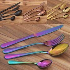 4Pcs Stainless Steel Cutlery Dinnerware Knife Fork Spoon Teaspoon Kits Tableware